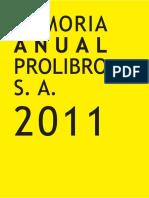 Memoria Pro Libro 2011