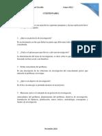 Cuestionario taller de investigación