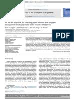 An MCDM Approach for Selecting Green Aviation Fleet Program Management Strategies Under Multi-resource Limitations
