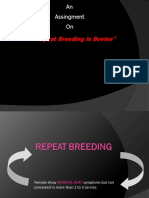 1 Repeat Breeding in Bovine
