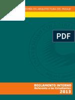 Reglamento Interno Estudiantes Maestria en Arquitectura Del Paisaje
