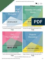 Botany Chemistry Physics Zoology