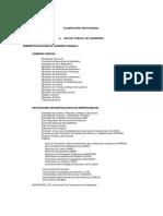 clasificacion Institucional