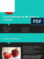 Food Spoilage by Microbes in Tomato
