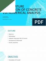 Numerical analysis of concrete temperature using semi-adiabatic test Presentation 6