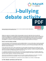 Debate Activity Anti-bullying