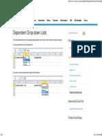 Excel Dependent Drop-down Lists - Easy Excel Tutorial