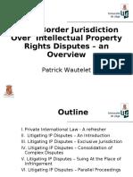 Cross Border IP Disputes