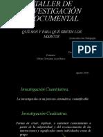 EXPOSICIÓN METODOLOGÍA INVEST. CUALITATIVA