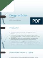 Design of Dryer