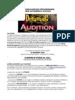 Cs Audizioni Dreaming Academy 16 Giugno