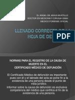 LLENADO CORRECTO DE HOJA DE DEFUNCION EN HONDURAS