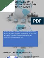 Impact of Decentralizatin in It