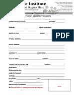 Student Registration Form 2019
