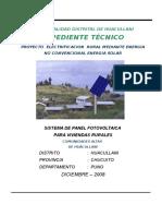 Proyecto Municipalidad Huacullani Panel Solar Memoria Descriptiva y Espec Tecnicas