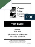 Cset english subtest 1