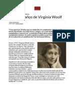 Una visita a su diario íntimo  El cumpleaños de Virginia Woolf