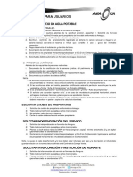 Requisitos Para Obtener Servicio de Agua Potable AMAGUA