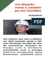 Nova direção desmorona o castelo da Itaipu em Curitiba