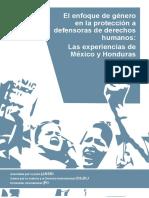 El Enfoque de Genero en La Proteccion a Defensoras de Derechos Humanos- Las Experiencias de Mexico y Honduras Logos Una Pag Interactivo
