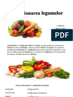 Condiționare legumelor