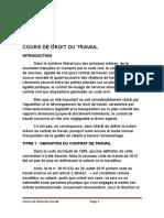 Cours de Droit Du Travail Licence 2018