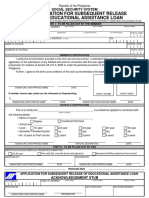 Application for Subsequent Release of Educational Assistance Loan