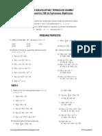 Problemas Propuestos de Valor Numerico de Expresiones Algebraicas Ccesa007