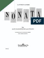 Lunde Sonata for Alto Sax