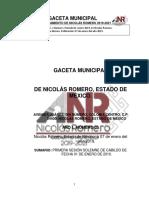 Relamento Organico Nicolas Romero