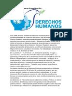 Derechos Humanos Investigación