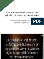 MAURICIOMecanismos de Difusión de La Cultura Salvadoreña