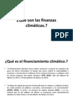 Que Son Las Finanzas Climáticas