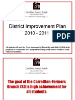 District Improvement Plan Presentation 2010