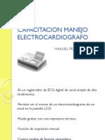 CAPACITACION MANEJO ELECTROCARDIOGRAFO