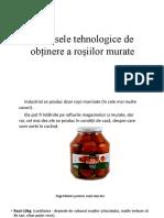 Procesele Tehnologice de Obținere a Roșiilor Murate
