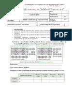 Evaluación de Matemática Adicion y Sustraccion