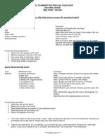 Final Examination English Language