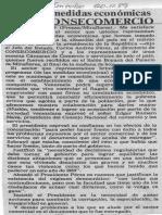 Apoyo a Medidas Economicas Reitero Consecomercio - El Impulso 20.11.1989