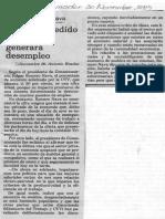 Edgard Romero Nava - Aumento Pedido Por CTV Generara Desempleo - El Informador 30.11.1989