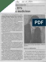 Edgard Romero Nava - CAP Recibio a Consecomercio Cayo en Un 35% Demanda de Medicinas - Diario Economia Hoy 20.11.1989