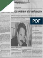 Edgard Romero Nava - Consecomercio Pide Revision de Intereses Bancarios - Economia Hoy 22.12.1989