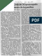 Edgard Romero Nava - Consecomercio Procupado Por Aumento de La Gasolina - El Impulso 30.12.1989