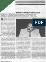 Edgard Romero Nava - Consecomercio Un Nuevo Modelo de Gestion - Entrevista Revista Numero 27.11.1988