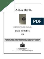 Roberts, Jane - Habla Seth