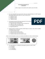 Evaluación Matemática N°3 para 4° Básico