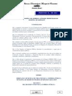 018-2010- Ordenanza de Creacion de La Empresa Publica Municipal de Residuos Solidos Ruminahui- Aseo-epm-2013 ( 20 de Diciembre Del 2010)