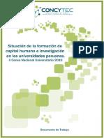 Censo de la situación de la formación de capital humano e investigación