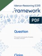 claim-evidence-reasoning framework