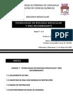 Tecnologias en Biologia Molecular y Dna Recombinante